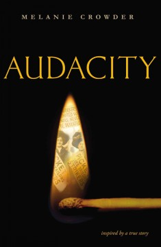 Cover image of Audacity by Melanie Crowder